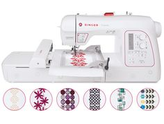 For Creativity that Knows No Limits! The SINGER Futura XL-580 embroidery and sewing machine includes innovative features that allow you to do more than ever before. With an endless hoop, knee lifter for hands-free presser foot lifting, extra-large sewing space for quilting and 250 built-in embroidery designs – including 50 endless designs – it's just what you need to make your sewing creativity truly limitless.  Convenience features like the SwiftSmart threading ...
