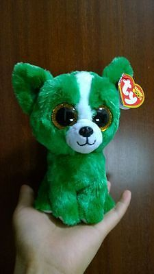 2015 new ty beanie boos dill green dog collection toy 6''