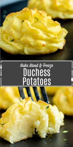 This easyDuchess Potatoes recipe is an elegant make ahead mashed potato recipe that is perfect for the holidays. Duchess potatoes can even be frozen so you can serve them for two people or for twenty. Make this easy potato side dish for your Easter Dinner, Thanksgiving Dinner, or Christmas Dinner ! Best Thanksgiving Side Dishes, Easter Side Dishes, Thanksgiving Recipes, Holiday Recipes, Thanksgiving 2020, Potato Sides, Potato Side Dishes, Christmas Dinner Sides, Duchess Potatoes