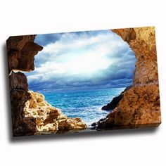 Shop for Glimpse into the Ocean Canvas Printed on Canvas Stretched Framed Ready to Hang. Get free delivery at Overstock.com - Your Online Art Gallery Store! Get 5% in rewards with Club O!