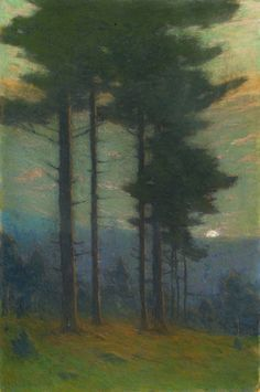 Charles Warren Eaton Twilight, ca. 1900-10 (Pastel on paper, 30 x 20 inches) Spanierman Gallery, NYC