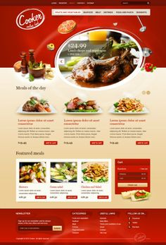 red, food web design // Hi Friends, look what I just found on #web #design! Make sure to follow us @moirestudiosjkt to see more pins like this | Moire Studios is a thriving website and graphic design studio based in Jakarta, Indonesia.