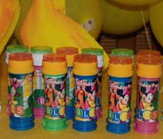 Personalized Favors: DIY Mickey Mouse Bubble Bottles
