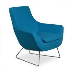 Aeon Furniture Parker Lounge Chair Turqoise - AE0358-B9 TURQ AE0358-6-BASE