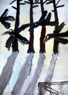 2d Art, Famous Artists, Contemporary Paintings, Landscape Art, Artworks, Abstract Art, Birds, Pure Products, Crows