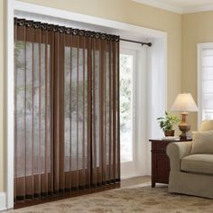the sliding glass door is cover with a piece of roman shade, the shade rod is installed above the mechanismof the sliding glass door, toleft it undisturb
