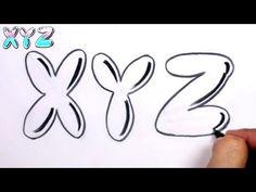 Graffiti Letters Alphabet Bubble Letters Alphabet X Y Z