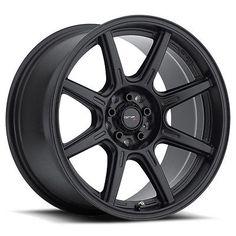4-NEW Drifz 308B Spec-R 16x8 5x100/5x114.3 25mm Black Wheels Rims