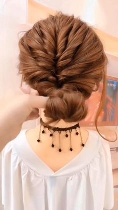 Bun Hairstyles For Long Hair, Girl Hairstyles, Wedding Hairstyles, Casual Updos For Long Hair, Dinner Hairstyles, Latest Hairstyles, Hair Up Styles, Medium Hair Styles, Medium Hair Updo Easy