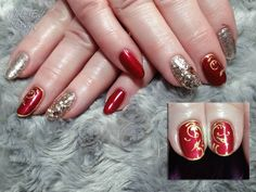 Rich red and Rose Gold with bling  @chintys_glitzyglitters #rosegold  #bling @i.n.k_london #ilac #blooddiamond #blooddiamond #glitter #blingnails #handpainted #i21 #inklondon @scratchmagazine #gelpolish #nails #nailsoftheday #nailart #showscratch #scratchmagazine #notd #nailsofinsta #naildesign #naildesigns #shaftesburynails #dorsetnails #gillinghamnails #moleenddesign