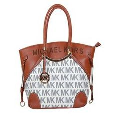 Welcome To Our Michael Kors Gathered Logo Large Brown Totes Online Store