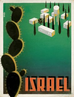 Israel travel poster.auch beim Palestine Poster Project - Info dort:  Israel - 1946 Artist/Designer/Photographer:  Steven Pesach Ir-Sahi (1896-1968) Language:  English Year:  1946 Publisher:  Research in Progress Published in:  Palestine Mandate