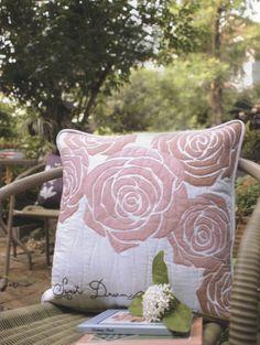 PDF Pattern of Rose flower garden pillow case by Patternsinlove, $5.00