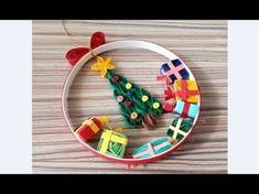 Quilling of Christmas Ideas -Christmas Decoration- Easy & Simple Christmas design 011 - YouTube