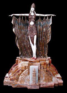 """Art Deco Sculpture """"Semiramis"""" By Demetre Chiparus"""