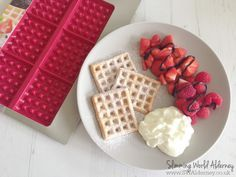 Slimming World waffles... all of this for 1.25 syns!!!