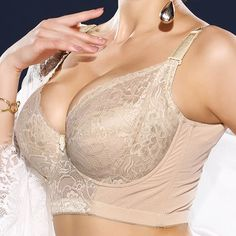 Where to buy plus size push up bra? NewChic offer quality plus size push up bra at wholesale prices. Shop cool personalized plus size push up bra with unbelievable discounts. Bustiers, Push Up, Criss Cross, Jamaica, Bra Styles, Bra Lingerie, Lace Bra, Plus Size, Vintage