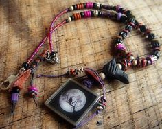 The African Crow Necklace by yuccabloom on Etsy, $61.00