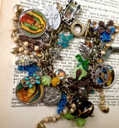 Charm bracelet  Christian relic jewelry  by pinkflamingo61 on Etsy, $55.00