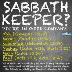 Sabbath keeper? You're in good company ...