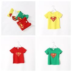 Superman T Shirts Candy Color Summer Boys & Girls Tops Cute Cotton Blouse Short Sleeve High Quality Shirts from Smartmart,$5.62 | DHgate.com
