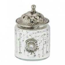 Pretty silver jar