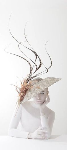 Fashion Editorial | Hat by Philip Treacy from the Spring Summer 2014 collection. | Picture by Kurtiss Lloyd. | Model: Alexandra Moss.