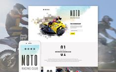 Motor Sports Responsive Landing Page Template. Additional features, comprehensive documentation and stock photos are included.