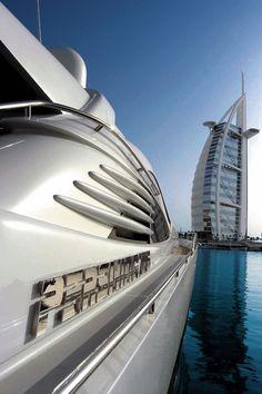Mens toys.  Yacht in Dubai
