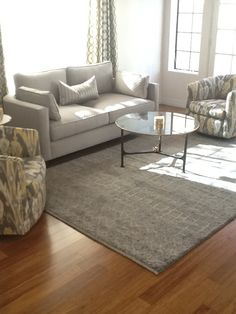 6x9 contemporary rug in this sleek living room for Living room rugs 6x9