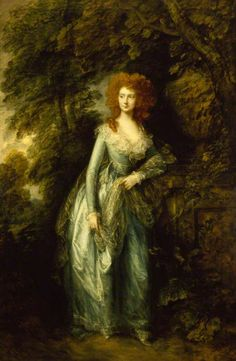 Thomas Gainsborough, portrait of a lady, possibly Elizabeth White, Mrs Hartley, c.1786-7, at Ascott. ©National Trust, image supplied by the Public Catalogue Foundation