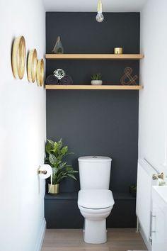 Rangement WC : idées pratiques pour toilettes - #idées #pour #pratiques #rangement #salledebain #toilettes #Wc