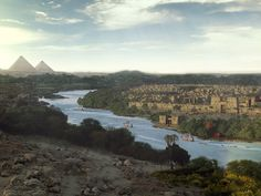 Plano Geral de Avaris, feito em cima de um plate real produzido no Egito e modificado pela equipe da composição. Foto: Reprodução/Facebook/RedeRecordVFX