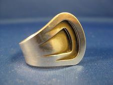 Anna Greta Eker ~ STERLING MODERNIST RING ~ Norway Silver Size 7-1/4