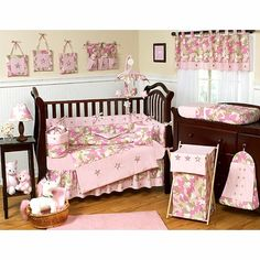 Sweet Jojo Designs Camo Pink Crib Bedding Collection  OH DANG!!!!