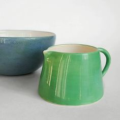 Jade saucer/ small jug - Handmade ceramic saucer