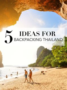 5 Ideas For Backpacking Thailand for Christmas Break.  Thailand is a beautiful and fun place to visit for solo travel or backpacking with friends on a holiday break.  Check out this travel guide for ideas for Thailand travel on a budget, including destinations such as Chiang Mai for shopping, Koh Tao for scuba diving, Koh Samui for beautiful beaches, and so many more places to visit.  Plan your travel route and cities to visit, and more! #Thailand #Asia #backpacking #traveltips #solotravel