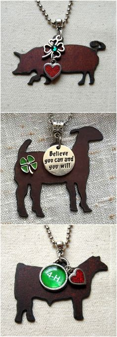 4-H Livestock Jewelry.  Unique jewelry made specifically for 4-H!