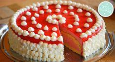 Erdbeer-Buttermilch-Torte mit Fruchtspiegel | http://www.backenmachtgluecklich.de