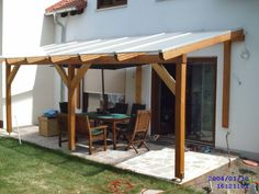 Glued laminated timber decking canopy 3 - Sams Garden House Shop