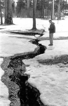 Alaska Earthquake March Ground fracture in the Forest Acres . 1964 Alaska Earthquake, Earthquake And Tsunami, As Good As Dead, Seattle News, Alaska Usa, Plate Tectonics, Local Events, Natural Disasters, Geology
