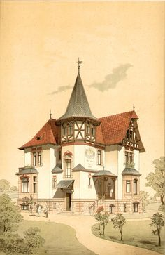 Interesting Find A Career In Architecture Ideas. Admirable Find A Career In Architecture Ideas. Architecture Drawings, Architecture Plan, Architecture Details, Victorian Architecture, Historical Architecture, Fantasy House, House Drawing, Victorian Homes, Old Houses
