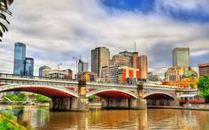 Download wallpapers Princes Bridge, Melbourne, Australia, HDR, Yarra River