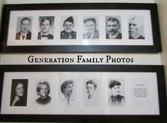 Generation photos.  Like this idea.  Pinner is a home schooler, but even so has some good ideas for teaching about family history to kids.