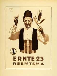 1926 Photogravure for tobacco from the German artist, Ludwig Hohlwein
