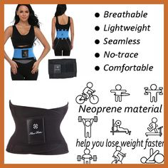 aaf29b12c Shapewear Hot Power Belt Corset Fitness Tummy Trimmer Slimming Wrap  Neoprene Waist trainer Body Shaper Fashion