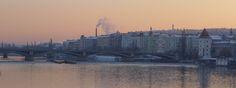#prague #prag #praha #winter #snow #cold #goldenestadt #goldencity #moldau #moldavia #river #sunset