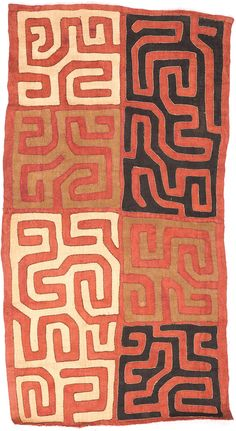 "African Allure - Kuba Cloth<br>25"" x 46""<br>7923"