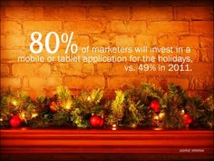 80% of marketers will invest in a mobile or tablet application for the holidays vs. 49% in 2011.