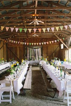 rustic barn wedding reception table decor ideas